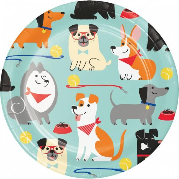 Bilde av Hundefest, Asjett, 8 stk