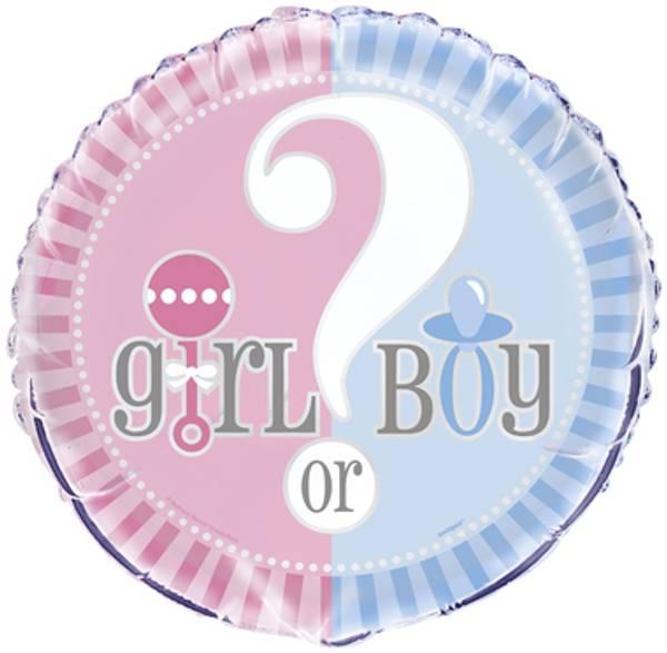 Bilde av Boy or Girl, Folieballong, 43 cm