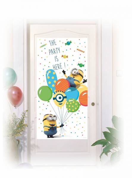 Bilde av Minions Balloon Party Dørplakat