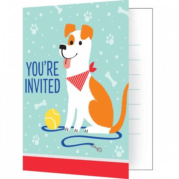 Bilde av Hundefest, Invitasjoner, 8 stk