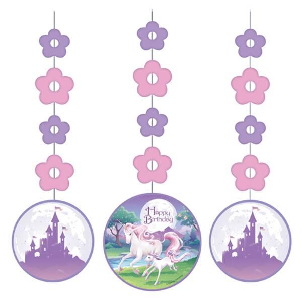 Bilde av Unicorn Fantasy, Hengende dekorasjoner 3 stk
