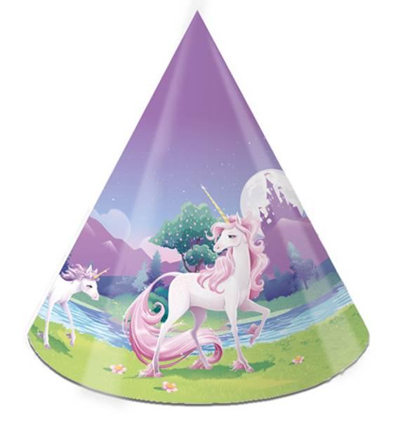 Bilde av Unicorn Fantasy, Partyhatter 8 stk