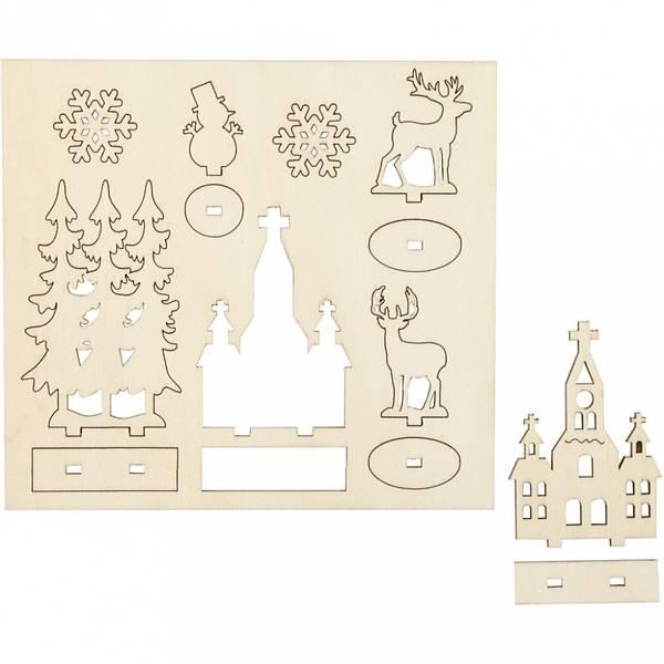 Bilde av Sett-sammen Selv Trefigur, Kirke, Juletrær, Krondyr