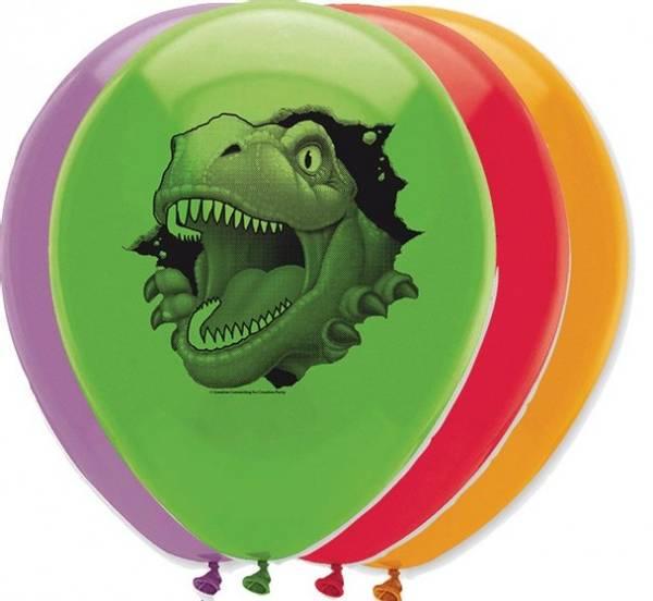 Bilde av Dinosaur Ballonger, 6 stk