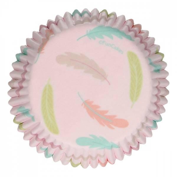 Bilde av Pastel Fjær, Muffinsformer, 48 stk