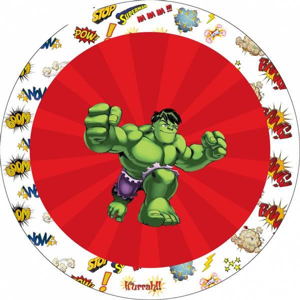 Bilde av Hulk, Kakebilde1, Sukkerpapir, 20 cm