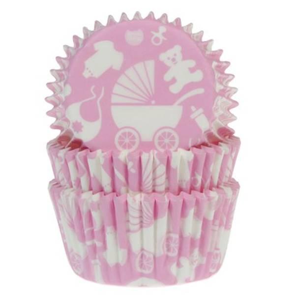 Bilde av Rosa Baby, Muffinsformer, 50 stk
