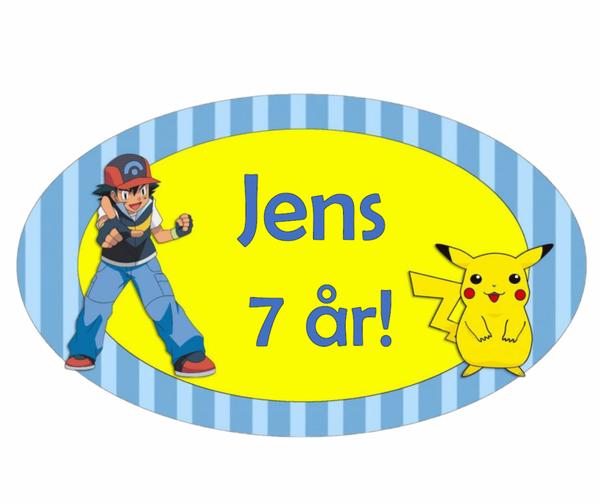 Bilde av Pokemon, Kakebilde, Sukkerpapir, ca 25 cm