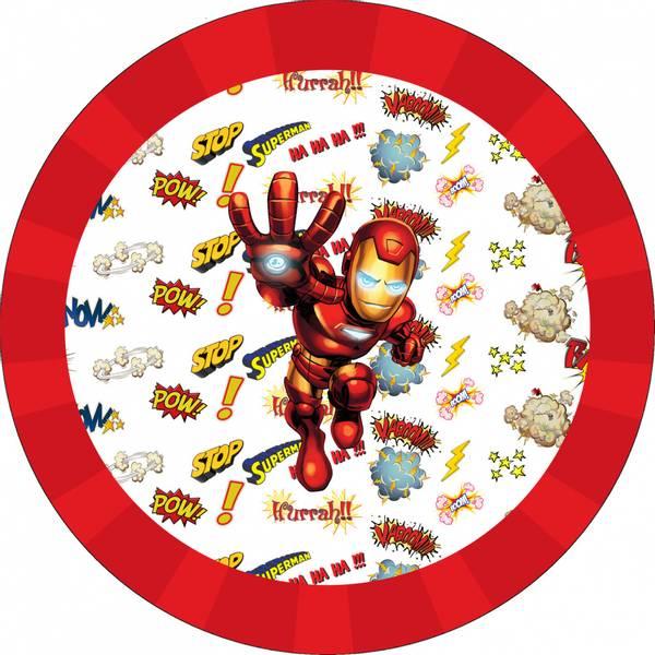 Bilde av Ironman, Kakebilde, Sukkerpapir, 20 cm