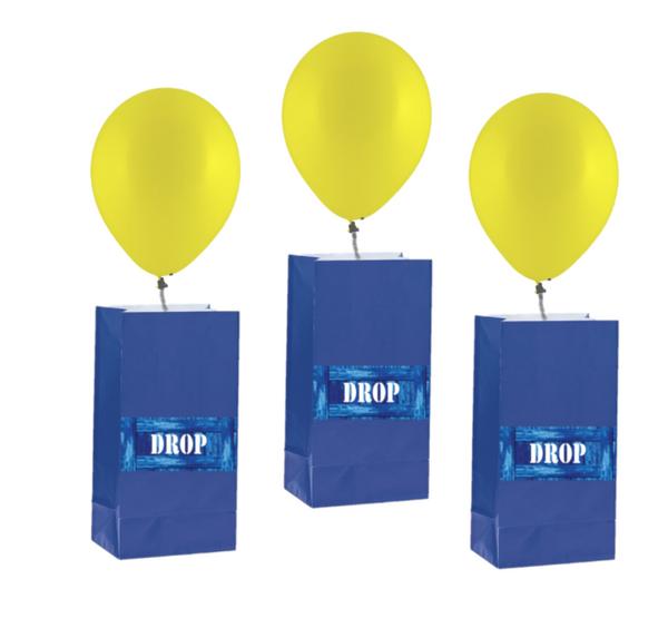 Bilde av Drop, Godtepose og Ballonger, 8 stk