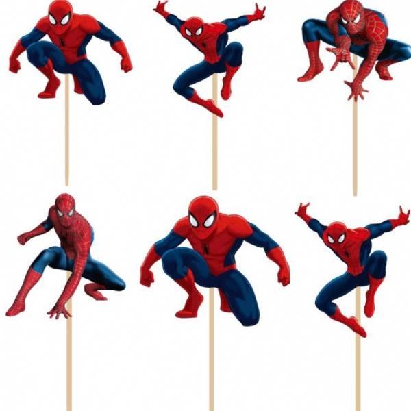 Bilde av Spiderman, Cupcake Toppers, 8 stk
