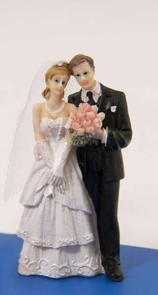 Bilde av Bryllupsfigur Klassisk med bukett