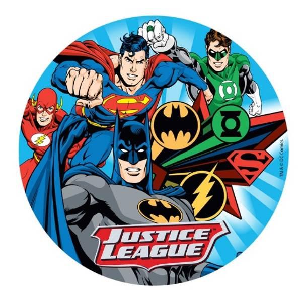Bilde av Justice League Kakebilde, 20 cm