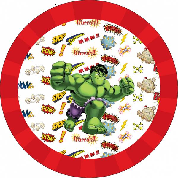 Bilde av Hulk, Kakebilde2, Sukkerpapir, 20 cm