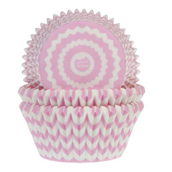 Bilde av Cheveron Pink, Muffinsformer , 50 stk