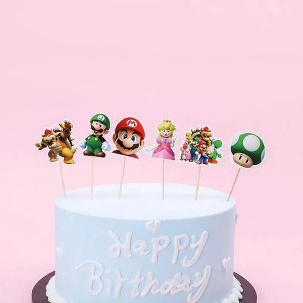 Bilde av Super Mario, Toppers, 8 stk