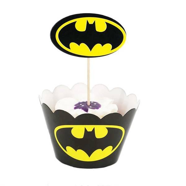 Bilde av Batman Svart, Cupcakewrappers, 12 stk