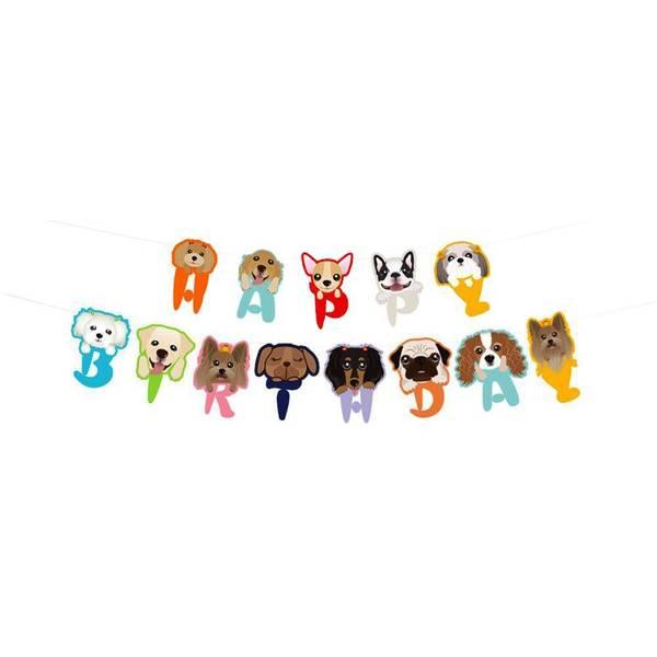 Bilde av Hundefest, Happy Birthday Banner
