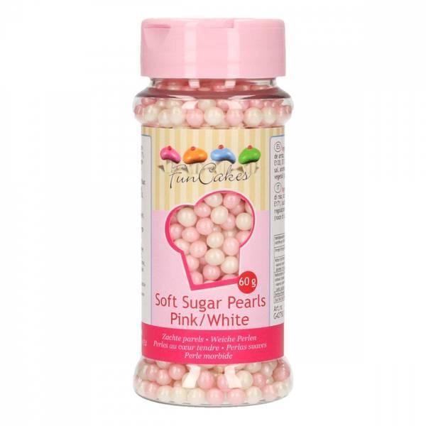 Bilde av Myke sukkerperler, Rosa og Hvite
