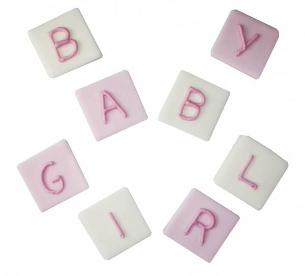 Bilde av Sukkerpynt, Baby Girl, 8 stk