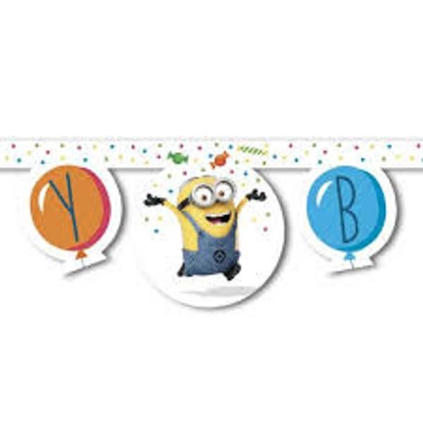 Bilde av Minions Balloon Party Banner, 2 m