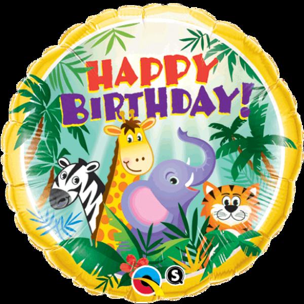 Bilde av Jungel Happy Birthday Folieballong, 46 cm