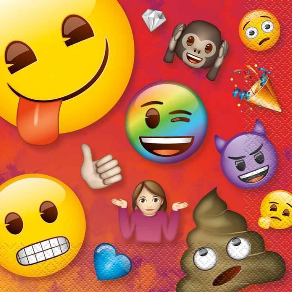 Bilde av Emoji Rainbow Fun Servietter, 16 stk