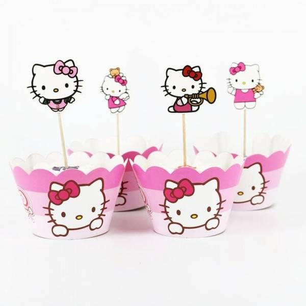 Bilde av Hello Kitty, Cupcakewrappers, 12 stk