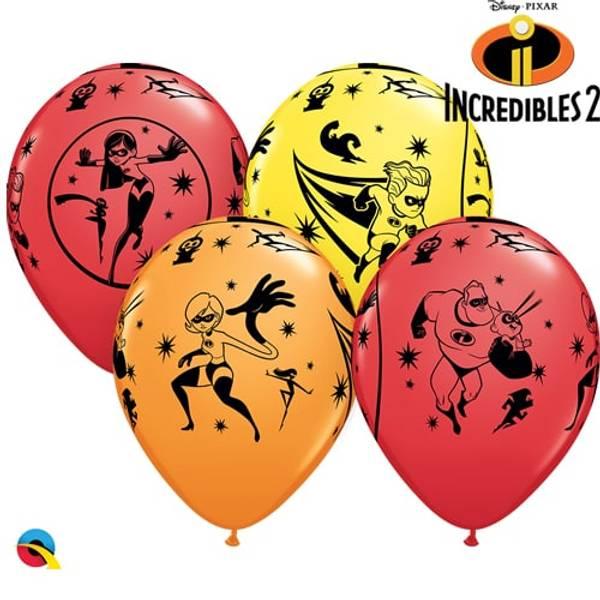 Bilde av De Utrolige 2 ballonger, 5 stk