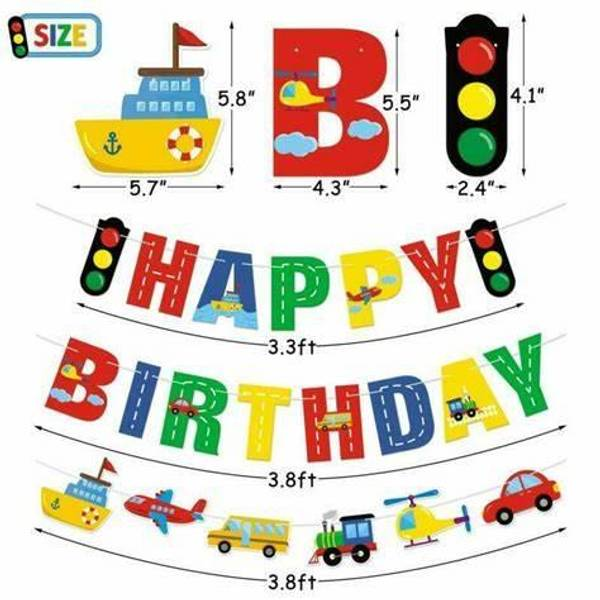 Bilde av Trafikk, Happy Birthday banner
