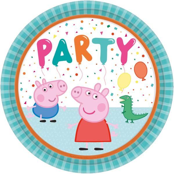 Bilde av Peppa Gris Ballong Party Tallerken