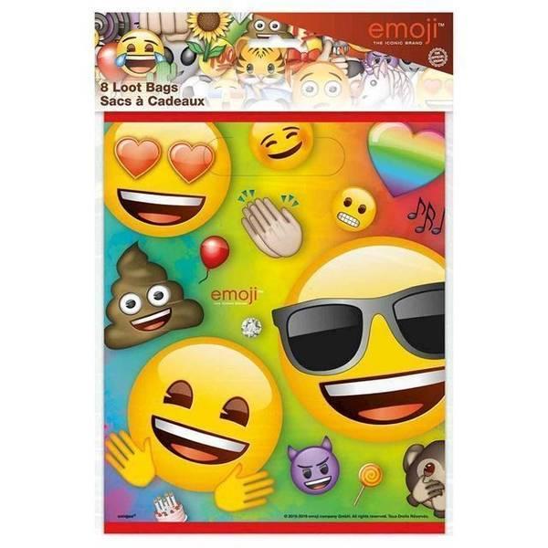 Bilde av Emoji Rainbow Fun Godteposer, 8 stk