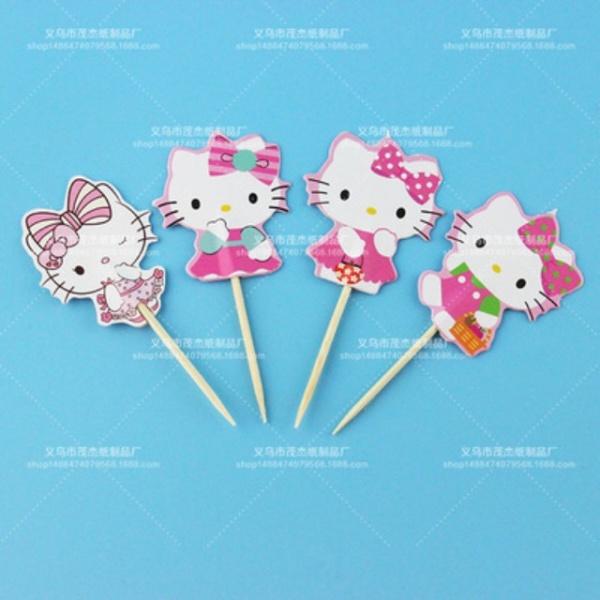 Bilde av Hello Kitty, Cupcaketoppers, 12stk