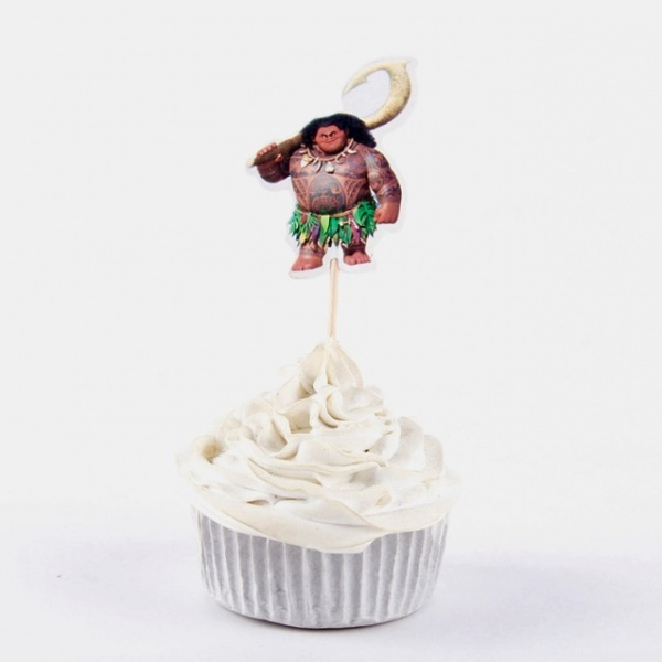Bilde av Vaiana Cupcake toppers, 12 stk
