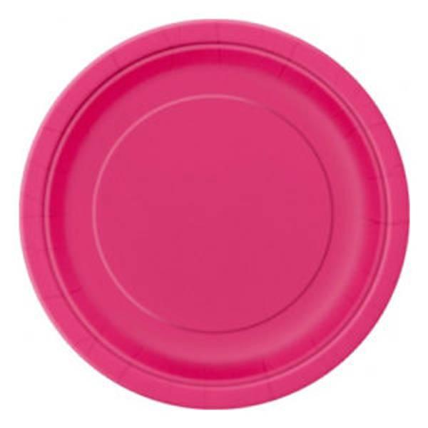 Bilde av Hot Pink Asjetter, 20 stk