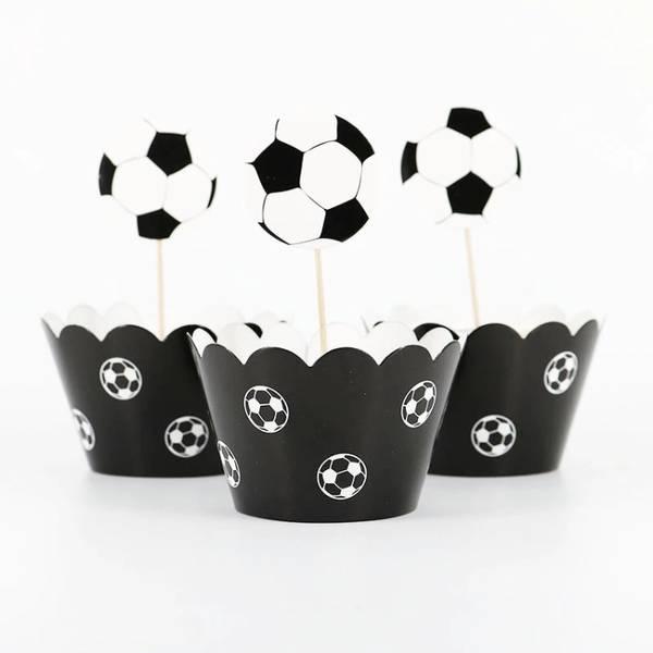 Bilde av Fotball Cupcake Wrappers, 12stk