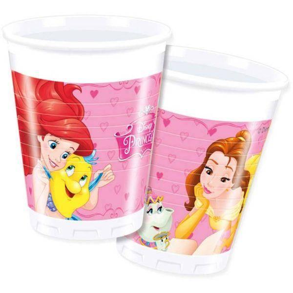 Bilde av Disney Prinsesse, Plastkopper, 8 stk
