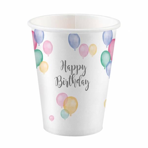 Bilde av Pastell, Happy Birthday, Kopper, 8stk