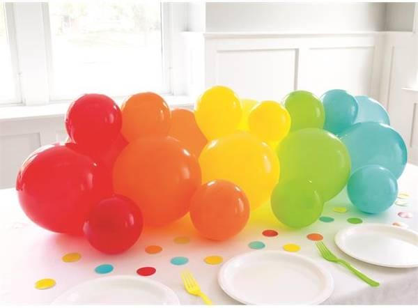 Bilde av Ballongdekor m/bordkonfetti - Regnbue Sett
