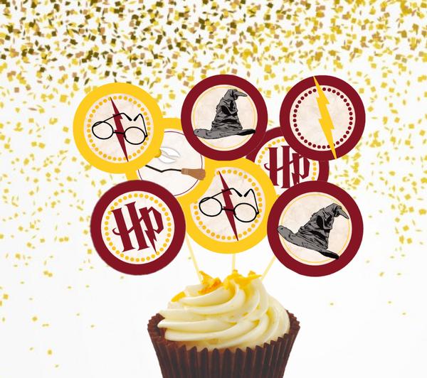 Bilde av Harry Potter, Cupcaketoppers, 8 stk