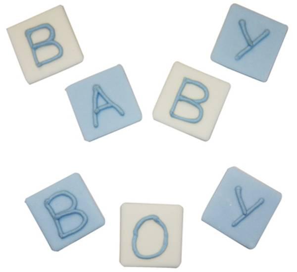 Bilde av Sukkerpynt, Baby Boy, 7 stk