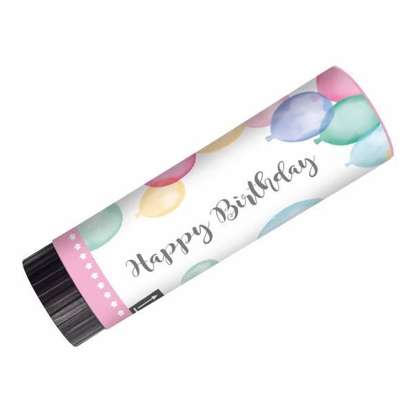 Bilde av Pastell, Happy Birthday, Partypopper, 2 stk