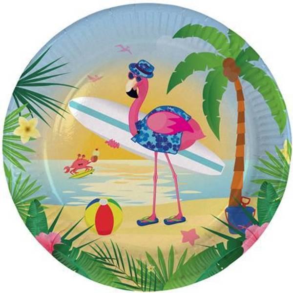 Bilde av Flamingo På Ferie Tallerken, 8 stk
