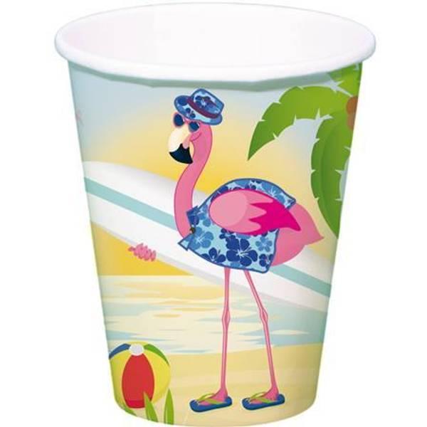Bilde av Flamingo På Ferie Kopper, 8 stk