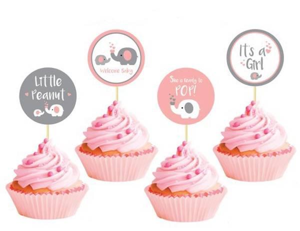 Bilde av Its A Girl, Welcome, Cupcaketoppers, 8 stk