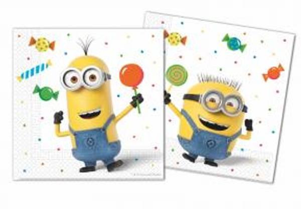 Bilde av Minions Balloon Party Servietter, 20 stk