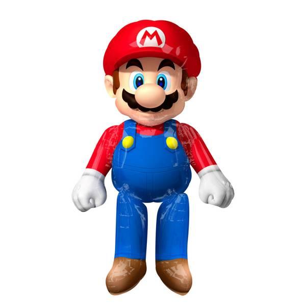 Bilde av Super Mario, MEGA, AirWalker Folieballong, 91*152 cm