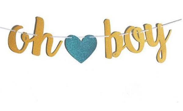 Bilde av Oh Boy Gull Glitter Banner!
