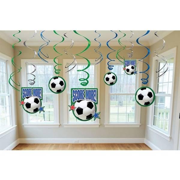 Bilde av Fotball Score more, Swirl Dekorasjoner, 6 stk