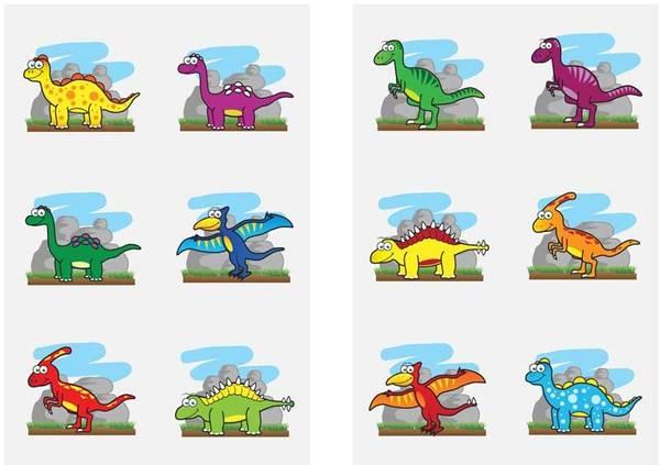 Bilde av Dinosaur Tatovering, 6 stk.